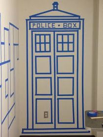 Day by Day: Doctor Who Blog Party | My TARDIS Door outline drawing of tardis for on the wall.