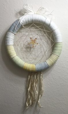 Catch a Dream. Art From Recycled Materials, Make Your Own, Make It Yourself, Wall Decals, Wall Art, Calendar Pages, Diy Mirror, Monogram Letters, String Art