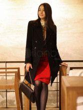Elegant Black Long Sleeves Polyester Woman's Peacoat for $73.79 at Milanoo http://www.rebategiant.com/store/1880/milanoo.html