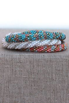 Lily and Laura Bracelets are handcrafted by the village women in Napal and proceeds from each purchase help to improve the lives of their families.