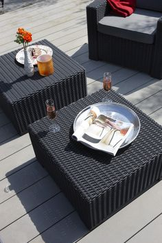 Outdoor Keter California All-Weather Resin Rattan Patio Coffee Table - 233215