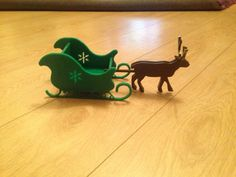 Reindeer and sleigh sweet holder ornament sweets by AdvanceLaser