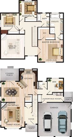 cranbrook floor plan by beaverhomesandcottages - 2 Storey House Plans