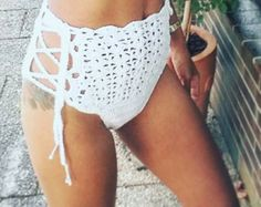 Welcome to 💋 Pomcloset 💋: unique, hand made cotton beachwear for the lady with sense of individuality - sexy & elegant at the same time. Enjoy soft, high quality cotton on your skin!   💋💋💋💋💋💋💋💋💋  A description of my crochet items:  All crochet items are hand made in Germany. We use 100% German brand name cotton. Our cotton is tested for harmful substances meeting OEKO-TEX® Standard 100 and being allergy friendly.  Optional: Add lining for the bra area: https://www.ets...