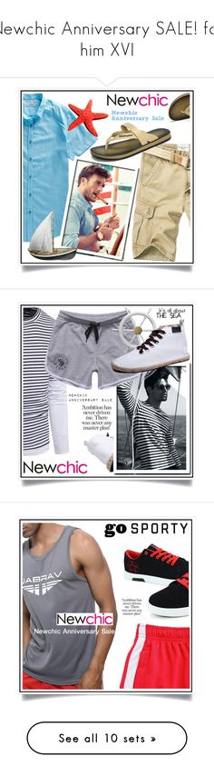 """""""Newchic Anniversary SALE! for him XVI"""" by ewa-naukowicz-wojcik ❤ liked on Polyvore featuring men's fashion, menswear and American Eagle Outfitters"""