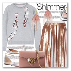 """Shimmer"" by cilita-d ❤ liked on Polyvore featuring Raoul, Envi, Giamba, Gianvito Rossi, Gucci, Serefina and Dolce&Gabbana"