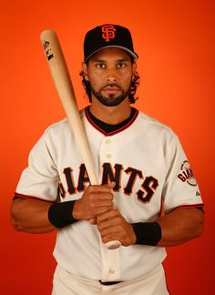 Angel Pagan #16 of the San Francisco Giants poses for a portrait during spring training photo day at Scottsdale Stadium on February 27, 2015 in Scottsdale, Arizona. (February 26, 2015 - Source: Christian Petersen/Getty Images North America) San Francisco Giants Photo Day