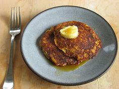 Pumpkin Pancakes w/ Ginger Honey Butter
