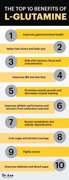 10 L-Glutamine Benefits, Side Effects Dosage - Dr. Axe