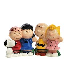 Another great find on #zulily! Peanuts Gang Salt & Pepper Shakers by Peanuts #zulilyfinds