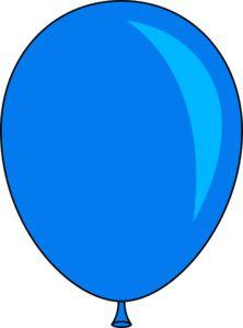 Blue Balloon clip art - vector clip art online, royalty free & public domain