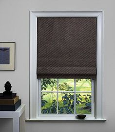 Flat Roman Shade for your high window. Approx $411 for the approx size.  Many fabrics available. Thosmisma black out.