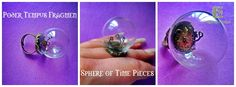 'Tempus Fragmen' Sphere of time Pieces - Steampunk style ring, available from Emerald Inceptions - find on Etsy or Facebook