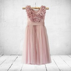 Flower-girl, christening or party dress. Little Miss Little Miss Dress, Bridesmaid Dresses, Wedding Dresses, Color Shades, Stretchy Material, Special Occasion Dresses, Ankle Length, Party Dress, Tulle