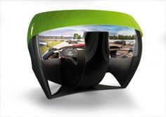 Motion Simulation TL1 - the world's first 180 degree, spherical projector screen and variable driving position cockpit.