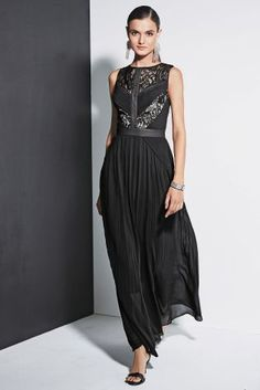 Great for a party - Black Lace Pleat Maxi Dress from Next