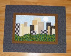 skyline Quilts to Make | then i quilted it and started playing with beads my local guild doq ...