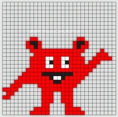 Min mamma jobbar som Förskollärare och frågade om jag kunde göra Babblarna i pärlplattor. Så jag satte mig ner vid skrivbordet och började pyssla ihop lite pärl Hama Beads Design, Hama Beads Patterns, Beading Patterns, Diy For Kids, Crafts For Kids, Saga, Small Cross Stitch, Beaded Animals, Kids Corner