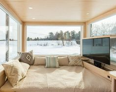 Love how all the Escape Travelers builds have huge windows. How about you guys?  #tinyhouse #tinyhome #minimal