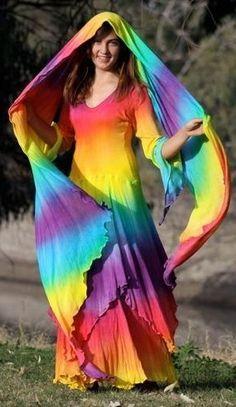 Rainbow Outfit, Rainbow Fashion, Taste The Rainbow, Over The Rainbow, Rainbow Parties, Tie Dye Dress, Rainbow Pride, Costume, Color Of Life