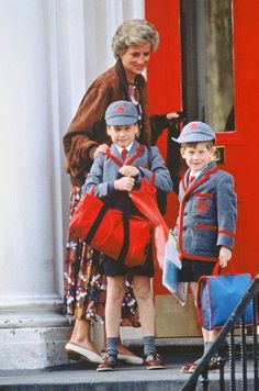 Off to school for William and Harry.