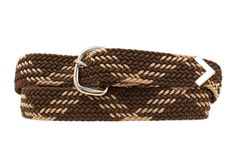 Brown and Tan Braided Belt - Up To Size 42