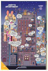 The colors in this Zootopia comic are beautiful. This comic strip takes a look into Judy Hopps apartment. See more by clicking on the photo.