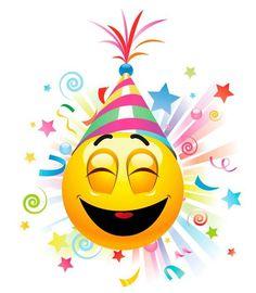 Birthday Emoticons, Happy Birthday Emoji, Happy Birthday Celebration, Happy Birthday Messages, Happy Birthday Images, Happy Birthday Greetings, Smiley Emoticon, Animated Smiley Faces, Funny Emoji Faces