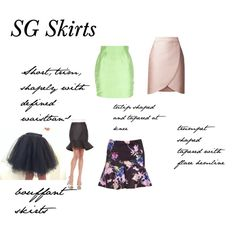Soft Gamine Skirts by adhp on Polyvore featuring Miss Selfridge, Cameo, STELLA McCARTNEY, Thierry Mugler, women's clothing, women's fashion, women, female, woman and misses