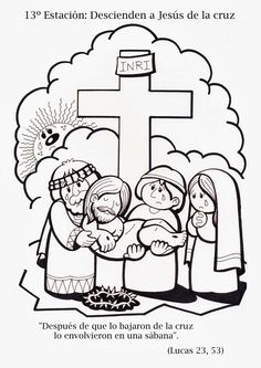 Via Crucis tradicional Todos los dibujos están realizados en tamaño A4 Ta...