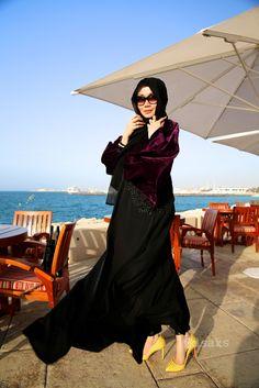 DSaks wearing Al Geed abaya