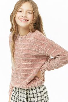 Product Name:Girls Chenille Sweater (Kids), Category:girls_tops, Teenage Girl Outfits, Girls Summer Outfits, Summer Dresses, Cute Girl Dresses, Cute Girl Outfits, Forever 21 Kids, Forever 21 Outfits, Tween Fashion, Fashion 2018