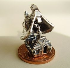 Sterling Silver Opening Halloween Haunted House by Hockleycharms, £14.00