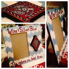 Pi Phi crest picture frame craft #piphi #pibetaphi