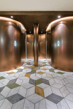 ALEXCHOI design & Partners Wc Design, Toilet Design, Floor Design, Store Design, New Home Theatre, Home Theater Setup, Home Theater Seating, Plaza Design, Lobby Design