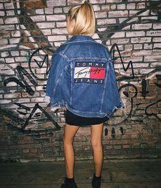 jacket tommy hilfiger denim denim jacket tumblr clothes