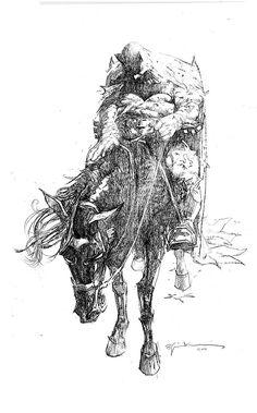 """bear1na: """"The Dark Knight by Bill Sienkiewicz * """""""