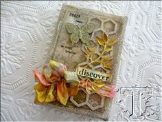 Project Ideas for Sizzix - Tim Holtz - Alterations Collection - Frameworks Die - Honeycomb