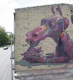 Foto: • ARTIST . ARYZ •  ◦ Boredom ◦ location: Naestved, Denmark #streetart