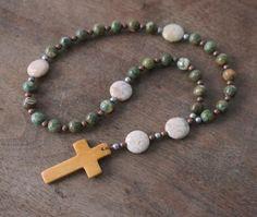 Christian Rosary / Anglican Prayer Beads / Pocket Rosary / Religious Gift / Heirloom (123)