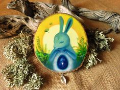 Easter bunny, ostara oil painting by SacretaShop. © Amaya de la Hoz