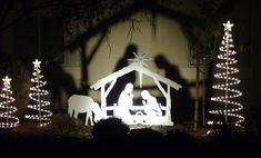 outdoor nativity, See my nativities at my website www.mynativity.com