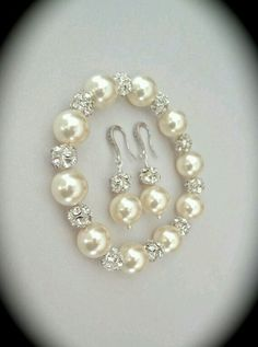 Pearl bracelet and earring set Chunky Statement Swarovski For a Bride Bridesmaids Mother of Bride Gift for her Wedding Bridal Jewelry LOLITA Pearl Bracelet, Pearl Jewelry, Crystal Jewelry, Jewelery, Swarovski Bracelet, Gemstone Jewelry, Pearl Necklaces, Ring Bracelet, Pandora Jewelry