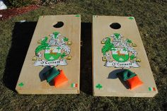 O'Connell Family Crest Custom Cornhole Game boards!