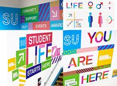 DCU Student Union Environmental Graphics & Wayfinding