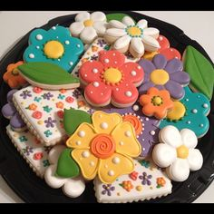 SugarBelle's flower platter