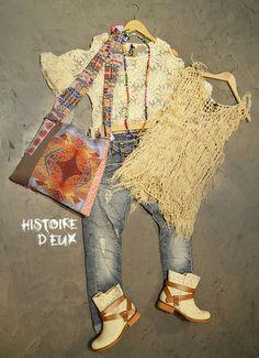 Colliers et Sac Lita Blanc Boutique: Histoire D'Eux - Hyeres - France