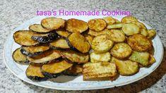 tasa's Homemade Cooking: Τραγανά κολοκυθάκια & μελιτζάνες !!!!