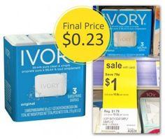 New Coupon: Ivory Soap, $0.23 per Bar at Walgreens!