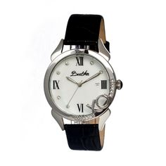 Bertha XO Silver-tone Steel White Mother of Pearl Dial Ladies Watch –  Goldia. f27f37bcd4